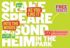 """Shakespeare in the Park at the Delacorte Theater, Central Park - """"Into the Woods"""" playing August 2012 (was lucky enough to get tickets the first time I submitted an entry!)"""
