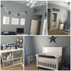 Our final Dallas Cowboys Nursery for baby Zachary!!