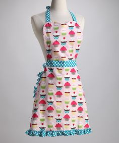 Cupcake Ruffle Apron - Women by Whim on #zulily