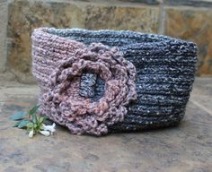 Knitted headband  Boho ear warmer  Hair by KennaInAfrica on Etsy