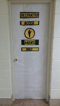 Agency D3 Vbs Bathroom Door Decor Agents Only Boy