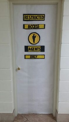 Agency D3 vbs Bathroom door decor (Girl agents only/Boy agents only)
