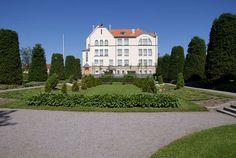 Pietarsaari school park and building. Ostrobothnia province of Western Finland -  Pohjanmaa