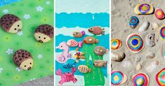 If you're looking for easy painted rock ideas we've got everything from hedgehogs and bumble bees to galaxy rocks and kindness rocks! Kindness Rocks, Painted Rocks, Bumble Bees, Activities For Kids, Hedgehogs, Rock Painting, Kids Rugs, Stone, Simple