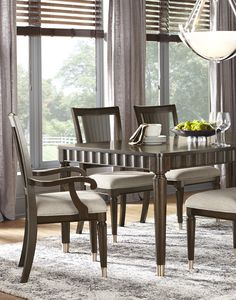 Gorgeous Dining Table And Crushed Velvet Chairs  ✧Dining Prepossessing Dining Room Furniture Collection Design Inspiration