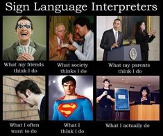 Sign language is something which is used as a means of communication between people who are hard of hearing or deaf and cannot speak. Sign Language Phrases, Learn Sign Language, British Sign Language, Second Language, Deaf Jokes, Job Memes, Funny Memes, Hilarious, Deaf Art