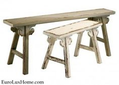 Amish painted Wooden Bench EuroLuxHome.com