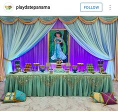 Princess Jasmine Party Decor
