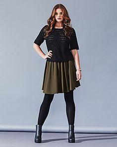 Simply Be Elasticated Waist Mini Skirt   Simply Be