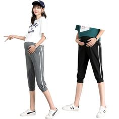 The pregnant women's trousers leggings casual pants is so causla and loose you may like it. #maternityskirt #maternitybuttom #maternityskirtoutfits #skirt #maternitybottom #maternitybottomwear #maternitypants #maternitypantsforwork #maternitypantsextender #maternitypantsplussize Women's Trousers, Trousers Women, Maternity Skirt, Soft Pants, Summer Wear, Casual Pants, Plus Size, Leggings, Clothes For Women