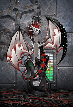 Tech-n-dustrial Music Dragon by Stanley Morrison