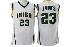 76d3a6f39ad6 Cheap LeBron James Jersey Mens White High School Classic XXL Father day sale