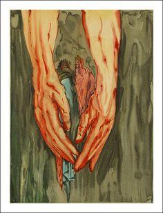 Salvador Dali - The rise of Geryon Dante Alighieri, Salvador Dali Paintings, Tarot, Vintage Illustration Art, Art Thou, Spanish Artists, Weird Art, Medium Art, Illustrators