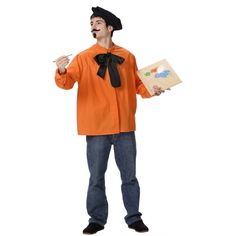 Dali Painter costume. Included in delivery: shirt, bowtie and cap. Colour may vary.