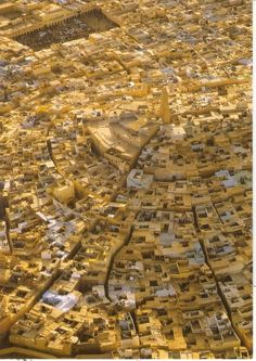 aerial view of Ghardaia of M'Zab valley, Algeria (fortified cities created in the 10th century and preserved intact in the Sahara) | UNESCO World Heritage Site