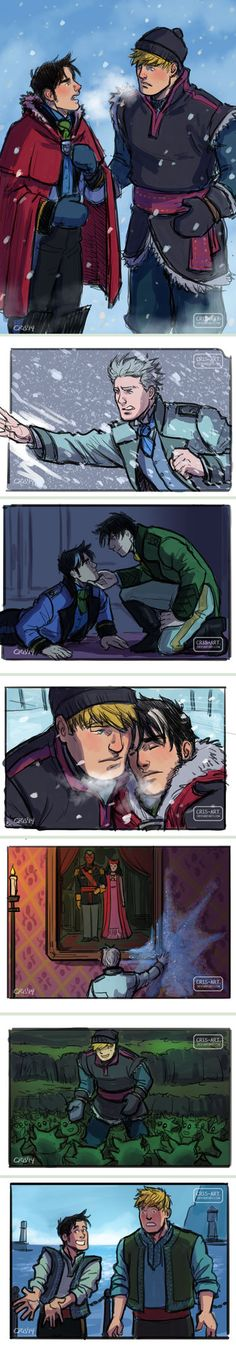 Billy x Teddy Frozen AU by Cris-Art