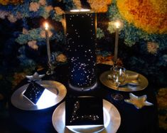 Shadow Constellations Custom Shade & Table Lamp - Spring Night Sky North-Western…