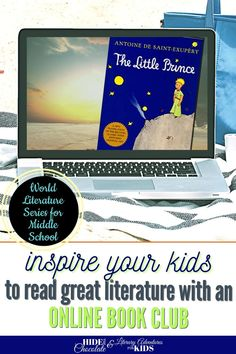 In this course, we'll read through the book by Antoine de Saint-Exupéry. We'll go on rabbit trails of discovery into science, history, and more. We'll find ways to learn by experiencing parts of the book through hands-on activities and then throw a party school to celebrate the little prince and the aviator This online literary guide has everything you need to study the book, including spelling, grammar, rabbit trails, and a writing project. It is perfect for a month of middle school literature.