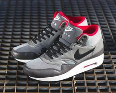 official photos 232b6 390de Nike Sportswears FB (Football) collection is debuting a new form for the  Air Max 1 this season with a mid top edition. Counted in the Air Max 1 FB  ranks a