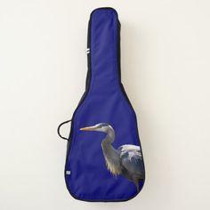 Great Blue Heron Guitar Case -nature diy customize sprecial design