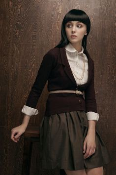 Canadian designer Betina Lou - what a pretty outfit for work.