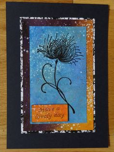 Card Mixed Media. Stamp from Penny Black