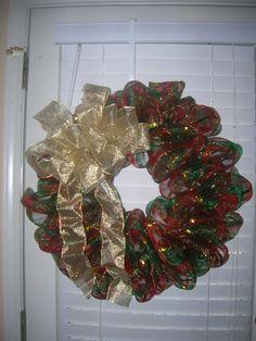 Christmas Mesh Wreath $40 - $45