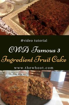 You will love this 3 Ingredient Fruit Cake that is a blue ribbon Prize Winning Recipe. Get the details now and check out the video tutorial too. Pear And Almond Cake, Almond Cakes, Easy Cake Recipes, Cookie Recipes, Dessert Recipes, Easy Fruit Cake Recipe, Easy Desserts, Vegan Fruit Cake, Eat Fruit