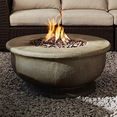 Turn warm days into warm nights with the CANVAS Birmingham Large Gas Firebowl. Turn warm days i Raised Garden Bed Kits, Tire Garden, Fire Pit For Smores, Gas Fire Table, Outdoor Furniture Design, Fire Bowls, Canadian Tire, Fire Pit Backyard, Outdoor Fire