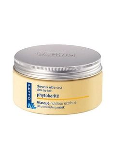 Once a week, apply a keratin hair mask to just-washed hair and leave in for ten minutes. We like Phyto Phytokarité Ultra Nourishing Mask. The conditioners in the mask coat the hair and seal the cuticle to keep out moisture (which helps prevent frizz), while the keratin strengthens hair to resist damage.