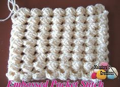 Tina's handicraft : Embossed pocket stitch