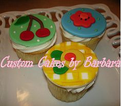 Mary Englebreit inspired cupcakes