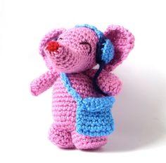 Pink Elephant Amigurumi Pattern PDF Crochet by MysteriousCats