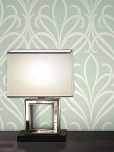 Lalique Green Nouveau Damask Wallpaper by Brewster on Gilt Home  juliakatrine.com