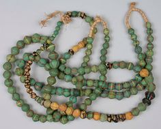 Venetian glass trade beads for West Afican market, 18th century.