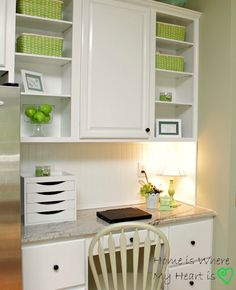 i love this organized kitchen desk area - Kitchen Desk Ideas