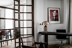 Masculine Elegant Saint Sulpice, Paris Home by Jean Charles Tomas