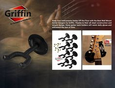 Amazon.com: Guitar Wall Mount Hangers (Pack of 8) by Griffin | Hanging Hooks Mount, Neck Holders Set for Acoustic or Electric Guitar, Bass, Violin, Mandolin, Banjo | All Steel Music Instrument Display Stand: Musical Instruments