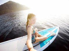 Sunrise standup #Paddleboarding... Our favorite! 🌅 #NicuesaLifestyle
