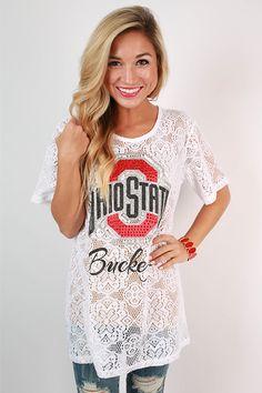 Ohio State University Lace Jersey