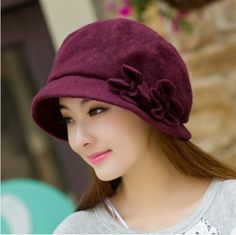 Flowers beret hat for women for winter