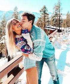 pinterest: lottiehayy Mylifeaseva - Eva Gutowski - Adam Bartoshesky - Winter - Its All Wild - Snow - Couple - Cute - Kiss - Christmas
