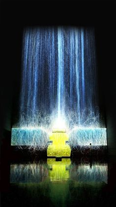 Digital Waterfall Projected On A Satellite Gives The Illusion Of Weightlessness | The Creators Project
