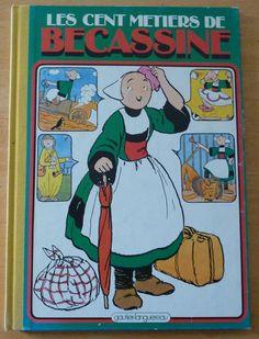 Vintage French Comic Book Livre de Dessins Animés Les Cent Métiers de Becassine