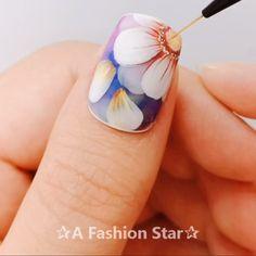 6 Pretty Nail Art For Beginners - Beautiful Nail Designs - A Fashion Star Pretty Nail Art, Beautiful Nail Designs, Creative Nail Designs, Creative Nails, Nail Art Designs, Design Art, Diy Nails, Swag Nails, Cute Nails