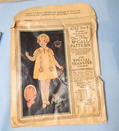 1920s Art Deco Girls Smocked Dress Bloomers McCall Sewing Pattern Sz 8 | eBay