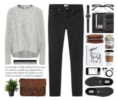 """""""Cable Knit"""" by ctodtims ❤ liked on Polyvore featuring Autumn Cashmere, Acne Studios, Vans, Zatchels, J.Crew, Marc by Marc Jacobs, GHD, Sennheiser, women's clothing and women"""