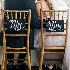 Mr. & Mrs. - Chalkboard Signs