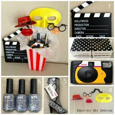 Movie Themed Birthday Party - Party Favors