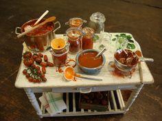 Miniature table set up prepare the italian by bagusitalyminiatures